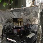 コーヒー焙煎時のチャフと煙の軽減枠 試作1号